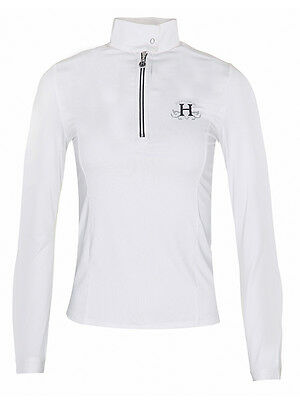Harcour Amelia Long Sleeved Competition Show Shirt White Large Shop Clearance