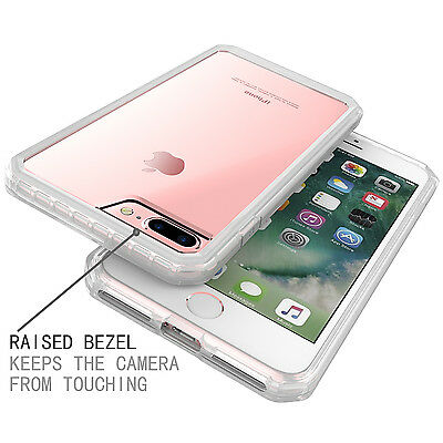 For iPhone 7 7 Plus Shockproof Silicone Soft Bumper Clear Hard Back Case Cover