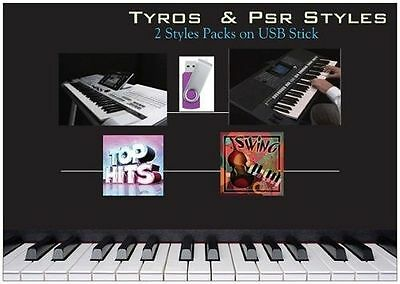 "Super Pack Styles Für Genos Tyros & Psr YAMAHA ""Top Hit's & Jazz Swing USB Stick"
