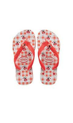 Havaianas Kids Print Lucky Bug in Apricot, Mint, Pink
