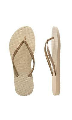 Havaianas Kids Slim Metallic Sand Grey/Light Golden