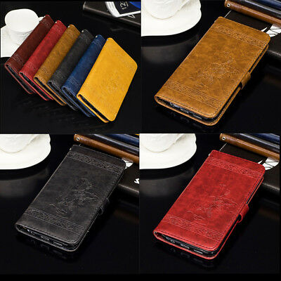 Luxury Leather Flip Wallet Card Holder Case Cover For Samsmung S8 Plus A5 J5 J7