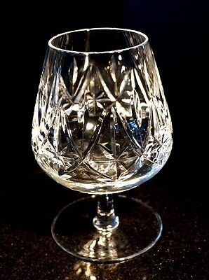 Stunning Heavy Czech Crystal  Brandy Balloon