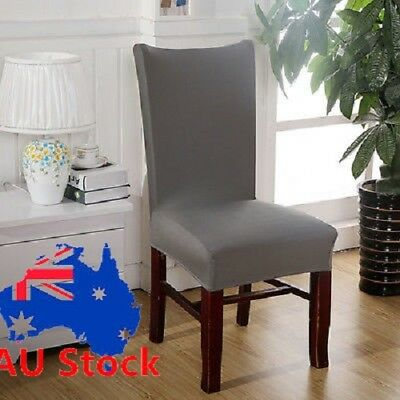 6 Pcs Stretch Elastic Dining Room Wedding Decor Chair Cover Washable Slipcover