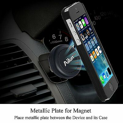 Universal Mobile Cell Phone GPS Air Vent Car Mount Magnetic Stand Holder Smart
