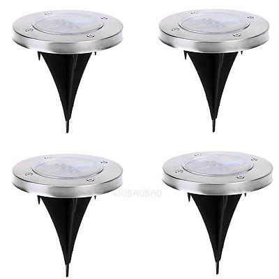 Solar Power 3 LED Lawn Light Buried Lamp Ground Garden Pathway Light Courtyard