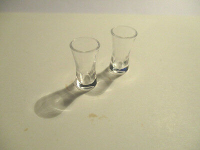 2 Dolls House Miniature Soft Drinks Glasses