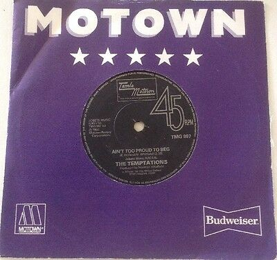 Temptations - Aint Too Proud To Beg / Ball Of Confusion - Tamla Motown