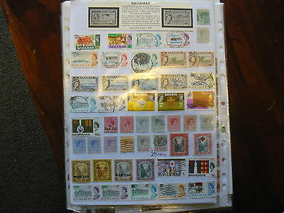 Bahama Stamps..2 Pages Of Good Stamps...war Tax...geo V & Vi Etc