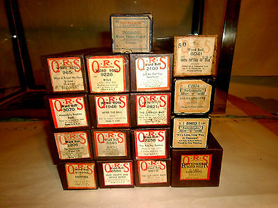 17  Antique ( O. R. S.)  Player Piano Music Rolls In  Boxes