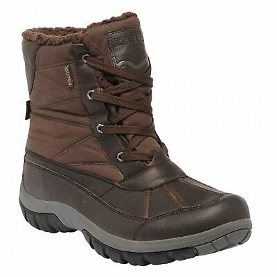Regatta Stormfell Mens Waterproof Breathable Winter Boots Brown