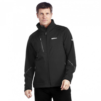 Regatta Davies Mens Water Repellent Softshell Jacket Black RRP £50.00