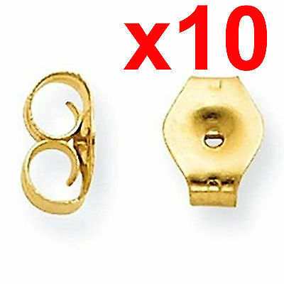 X10 earrings gold metal friction butterfly stud stoppers findings post push back