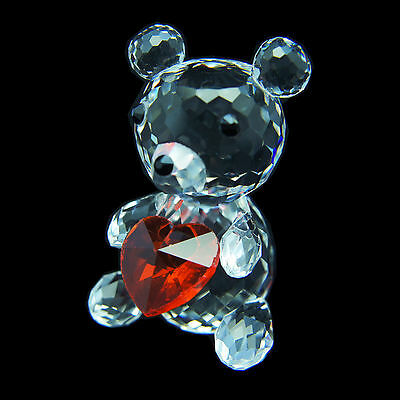 Kris Bear w Heart Austrian crystal figurine ornament sculpture RRP$199