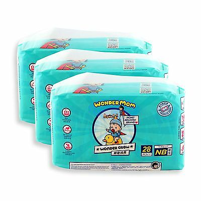 Wonder Mom Baby Dry Diapers Size XS Extra Small (<3kg) 84 Count Value Pack