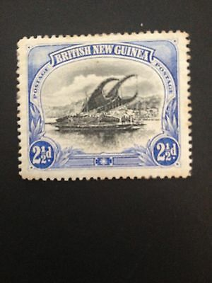 British New Guinea 1901-05 2½d Blue / Black (MINT with some missing gum)