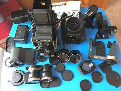 Mamiya C330F professional TLR pro camera complete set with lots extras.