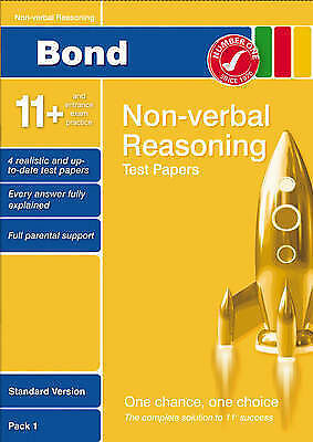 Bond 11+ Test Papers Non-Verbal Reasoning Standard Pack 1, Baines, Andrew, Used;