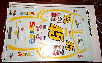 RARE Wetworks Nascar 1/24 Decals #45 Spree Chevy Adam Petty 1999