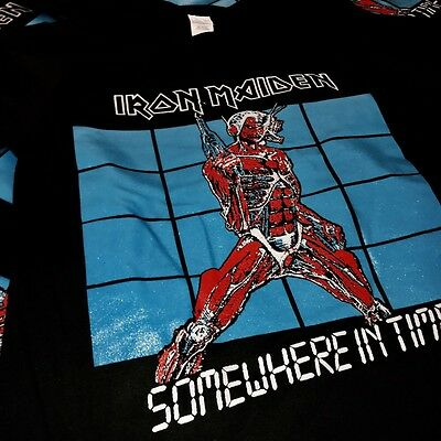 IRON MAIDEN SOMEWHERE IN TIME TSHIRT, SMALL SIZE, RARE. Judas Priest, Motörhead