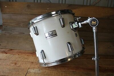 Vintage White Pearl  World Series Drum Tom Tom Kit Mount