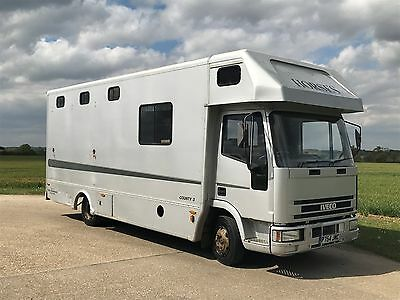 Horsebox with living, IVECO 75E15, 7.5t