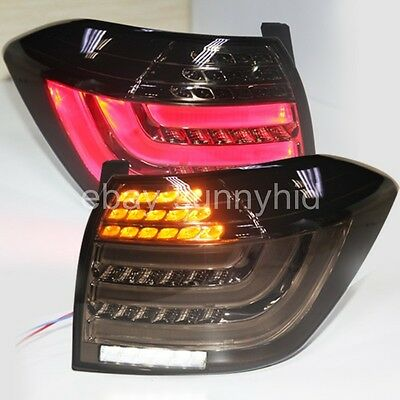 For TY Highlander Kluger LED Rear Lamp Assembly 2012 to 2013 Year Smoke Black