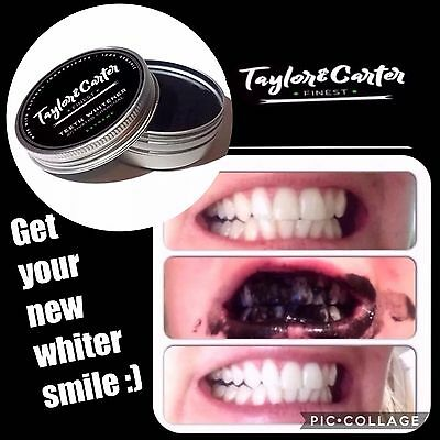 PEPPERMINT Charcoal Activated Whitening Tooth Teeth Powder Organic toothpaste