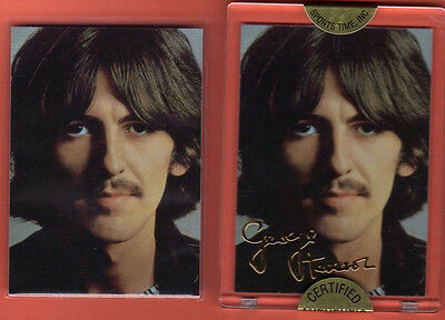 The Beatles / George Harrison /1996 Gold Signature Card / Factory Sealed & Mint!