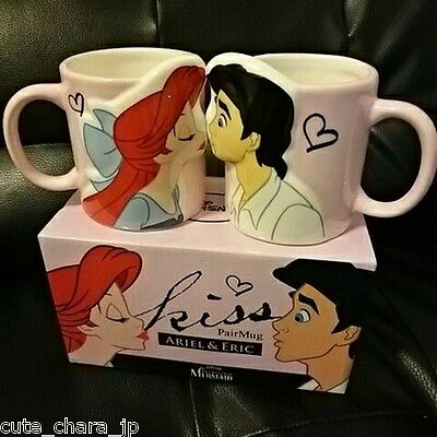 Japan 0001 Ariel & Eric Kiss Pair Mug Cups Set Tangled