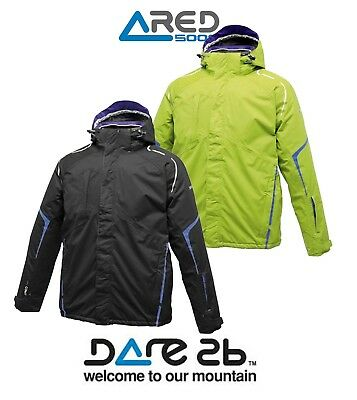 Dare2b Nobility Mens Waterproof Breathable Padded Winter Ski Jacket Ared 5000