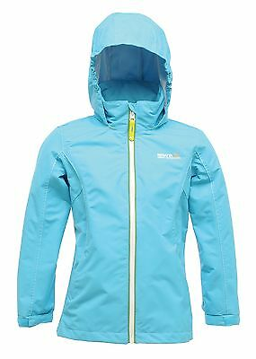Regatta Chaca Girls Lightweight Waterproof Breathable Jacket Blue Age 13-14yrs