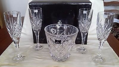 Royal Doulton, 4no Fine Crystal Glasses and a Ice Bucket Set