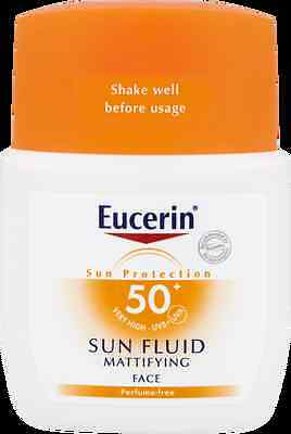 Eucerin Sun Fluid Mattifying Face Unperfumed & Water Resistant SPF 50 50ml