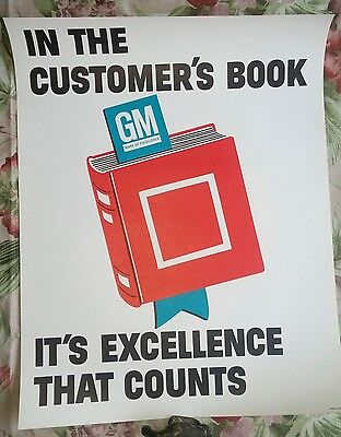 Vintage 1960s GM PRINTED IN USA LITHO POSTER SIGN