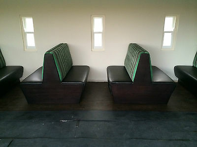 Fitted Banquette Seating, Bench, Booths, Restaurant, Hotel, Kitchen, American