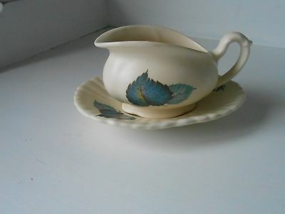 Very Pretty Axe Vale Sauce Boat And Dish  1940's/1950's