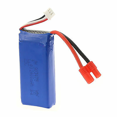 RC Part 7.4V 2400mAh 25C Lipo Battery Upgrade for Syma X8C RC Helicopters Blue