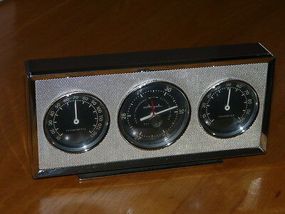 Rare Mid Century Airguide Thermometer Hygrometer Barometer - U.S.A. Chicago