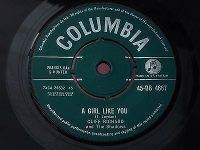 Cliff Richard : A Girl Like You - Now's The Time To Fall In Love : 45-DB 4667