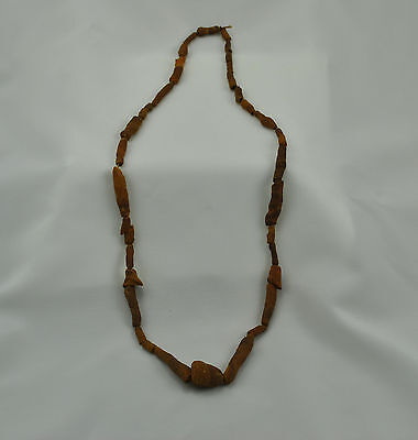 "24"" Strand of Primitive Native American Clay Beads from the Longworth Collection"