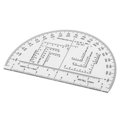 6 Inch NATO Military Accurate Mils Map Reading Protractor for Map Reading