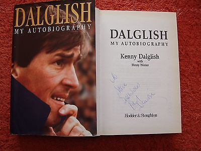 SIGNED KENNY DALGLISH AUTOBIOGRAPHY (HB & 1st Ed)