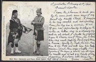 SOUTH AFRICA - Boer War - Corporal and Piper, Black Watch.