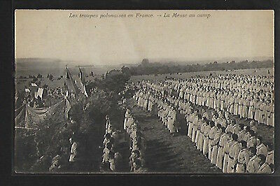 Poland - World War One - POLISH FORCES IN FRANCE - The mass in the camp.