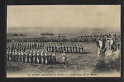 Poland - World War One - POLISH FORCES IN FRANCE - Celebration of the mass.