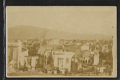 Turkey - IZMIR (Smyrne) - Bird's eye view after the Great Fire in 1922. Real pho