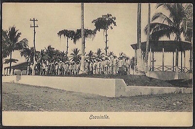 Guatemala - Escuintla - Group of soldiers.