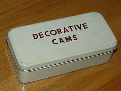 Vintage Sewing Machine Decorative Cams Tin Box
