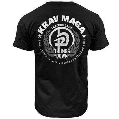 T-Shirt Thumbsdown Krav Maga ! Ideal For Mma, Training, Casual Wears! Ts336 Blk